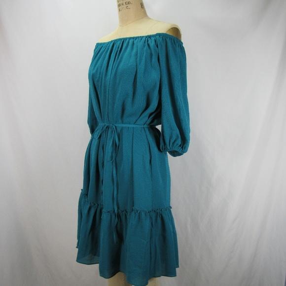 056b81c2e87 Ella Moss Blue Turquoise Off Shoulder Dress NWT Boutique